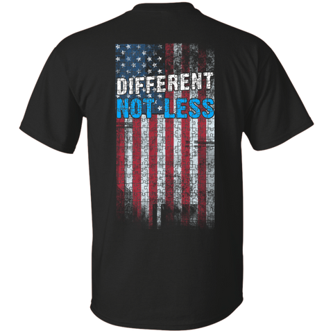 Autism American Flag - Different Not Less