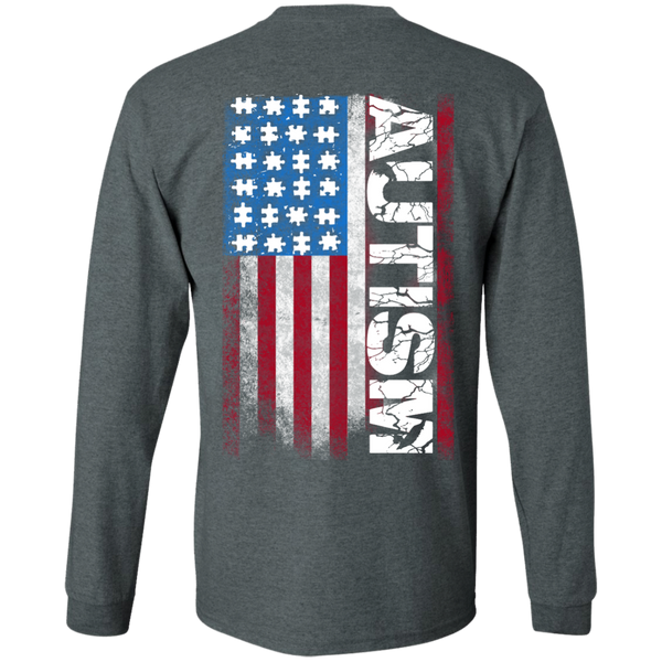 Special Limited Edition Autism American Flag Shirt