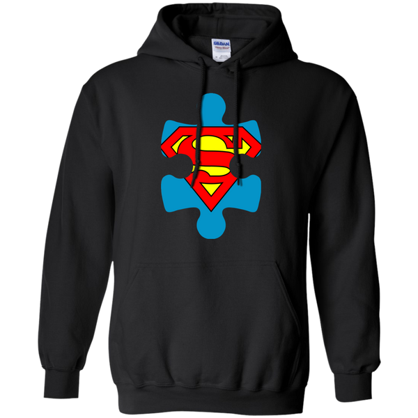 Autism Blue Puzzle Piece With Superman - Adult Sizes