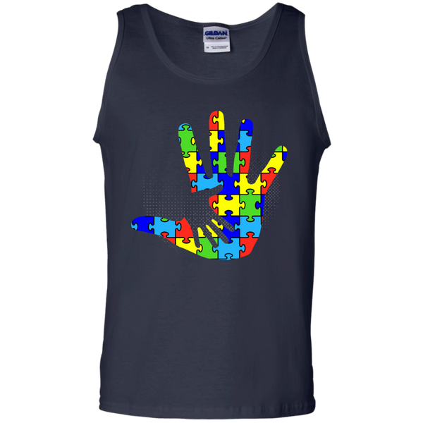 Autism Puzzle Pieces Hand in Hand