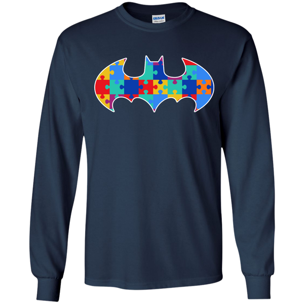 Autism Awareness Puzzle Pieces Bat - Youth