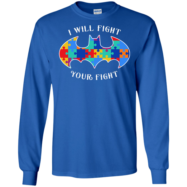 Autism Bat - I Will Fight Your Fight - Adult Sizes