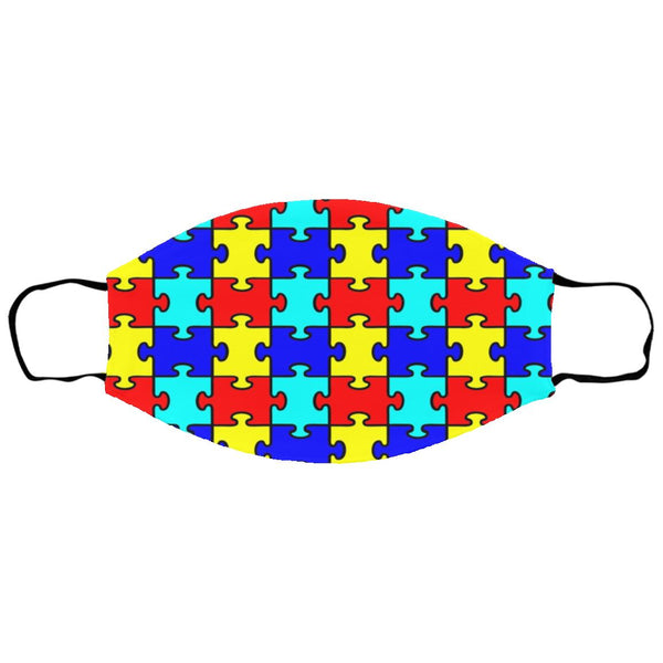 Autism Puzzle Pieces Pattern Face Mask