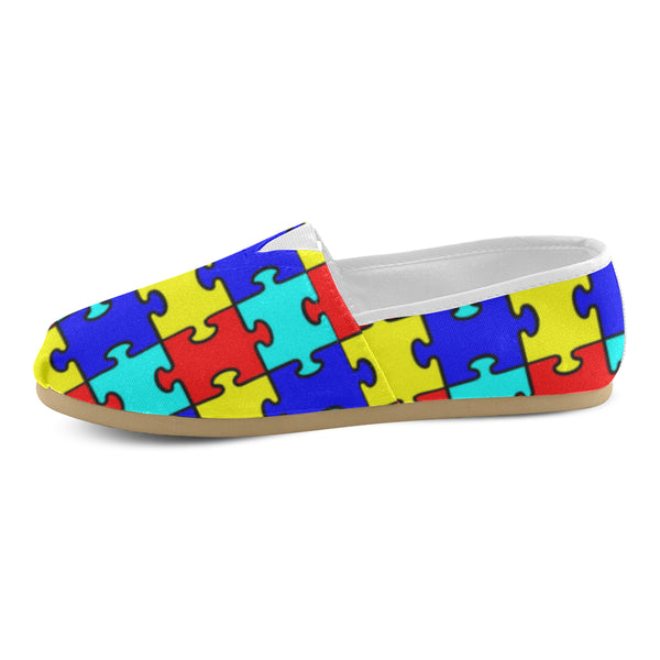 Autism Puzzle Pieces Women's Canvas Shoes