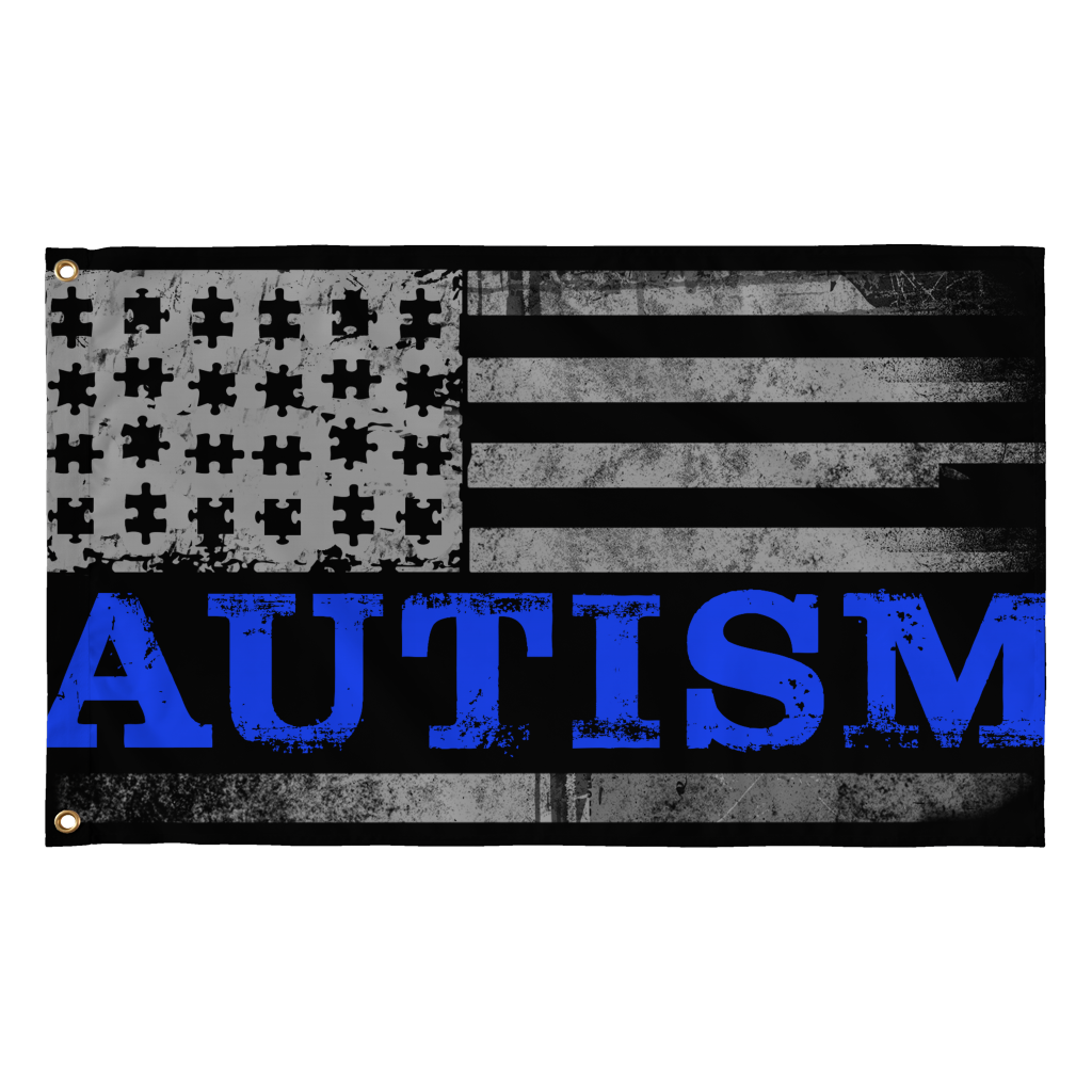Autism Blue - Puzzle Pieces Real Flags