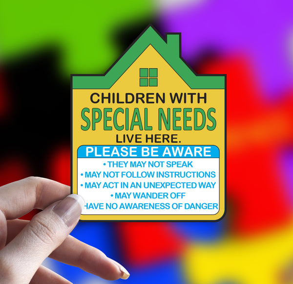 Special Needs Safety Home Decal Sticker