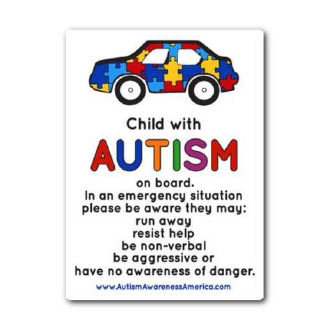 Autism Child Car Sticker Decal