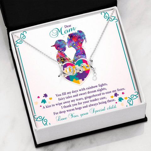 Autism - Scripted Love Pendant Necklace