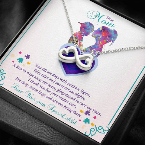 Autism - Infinity Hearts Pendant Necklace
