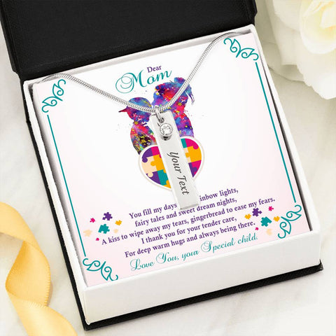 Autism - Birthstone Name Pendant Necklace
