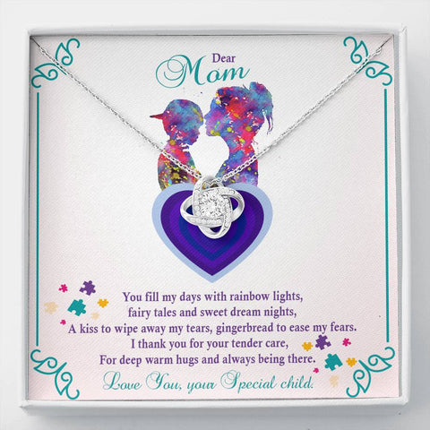 Autism - Love Knot Pendant Necklace