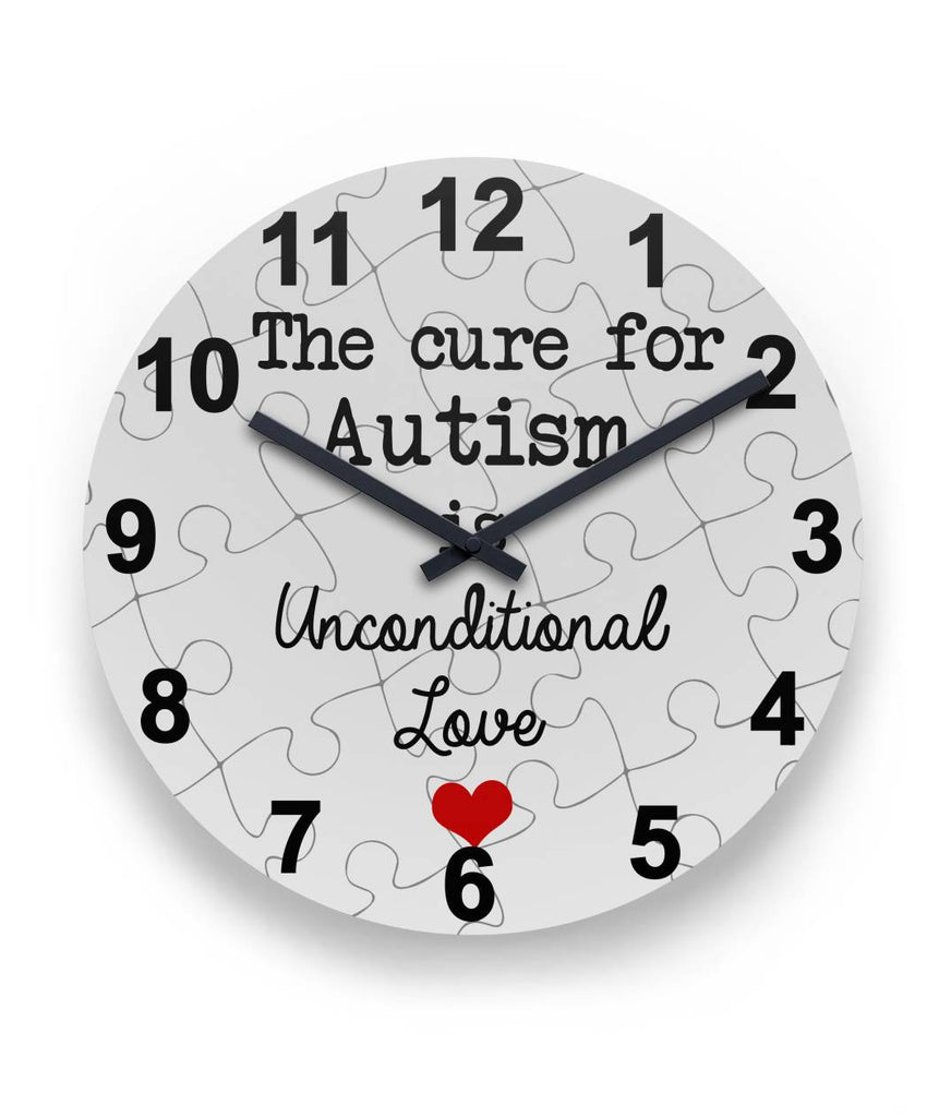 Autism - Unconditional Love Round Wall Clock
