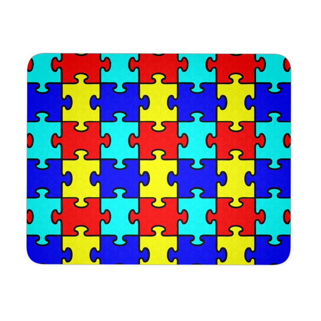 Autism Puzzle Pieces Rectangular Mousepad