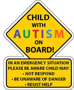 Autism Saftey Car Truck Decal Sticker