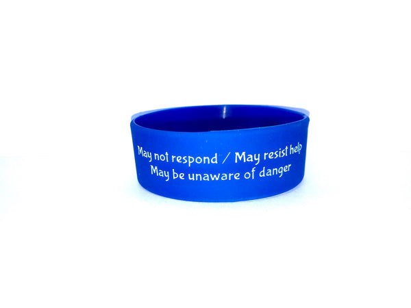 Blue Autism Alert Wristband SAFETY Bracelet