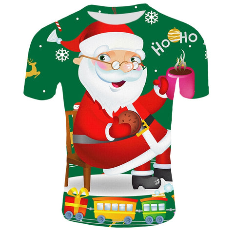 Funny Santa Claus - Reindeer and Snowman Christmas T-Shirts