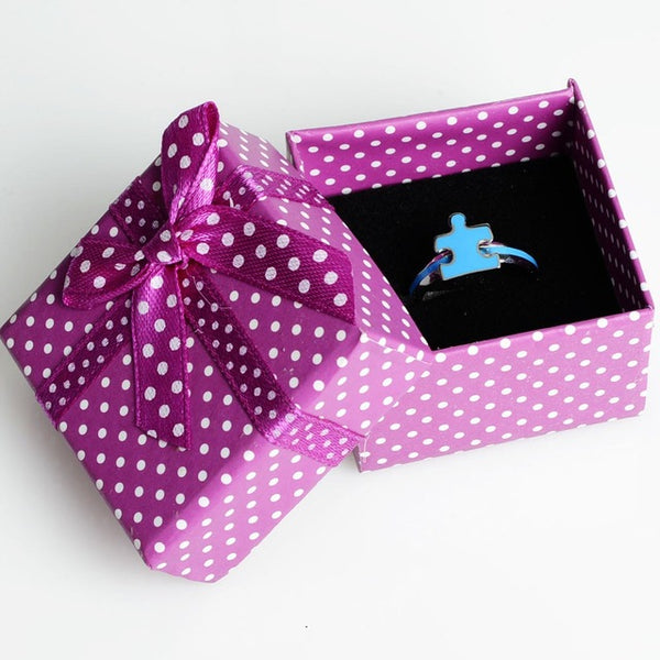 Autism Puzzle Piece Blue Ring - FREE SHIPPING!