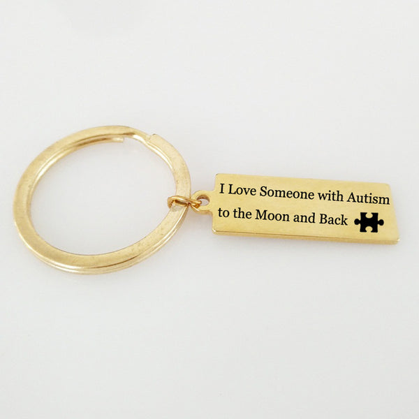 I Love Someone with Autism Key Chain Ring