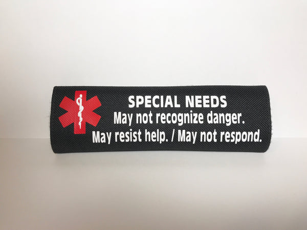Special Needs Alert Safety Seatbelt Cover