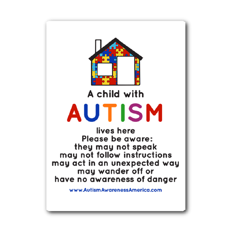 Autism Child House Sticker Decal