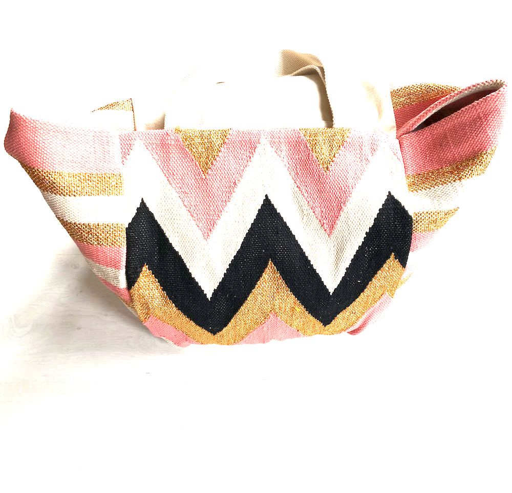 Pink & gold canva bag - TheShopster