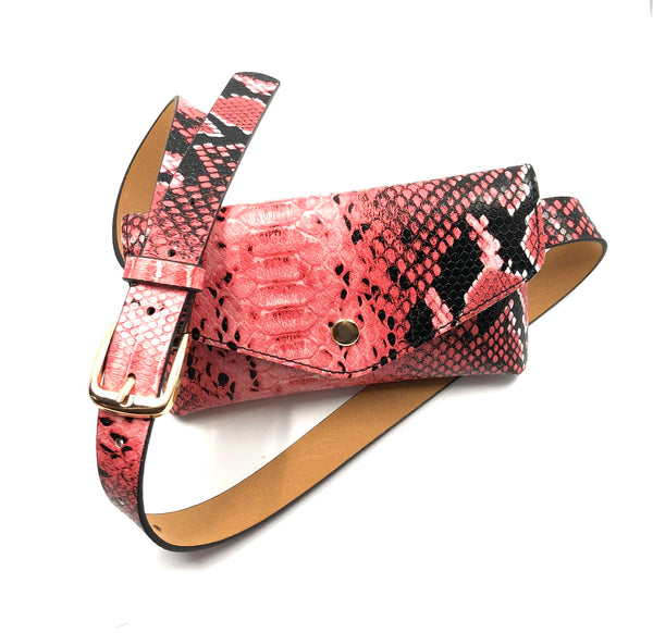 Pink leopard belt bag - TheShopster