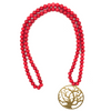 Red necklace with Tree of Life pendant - TheShopster