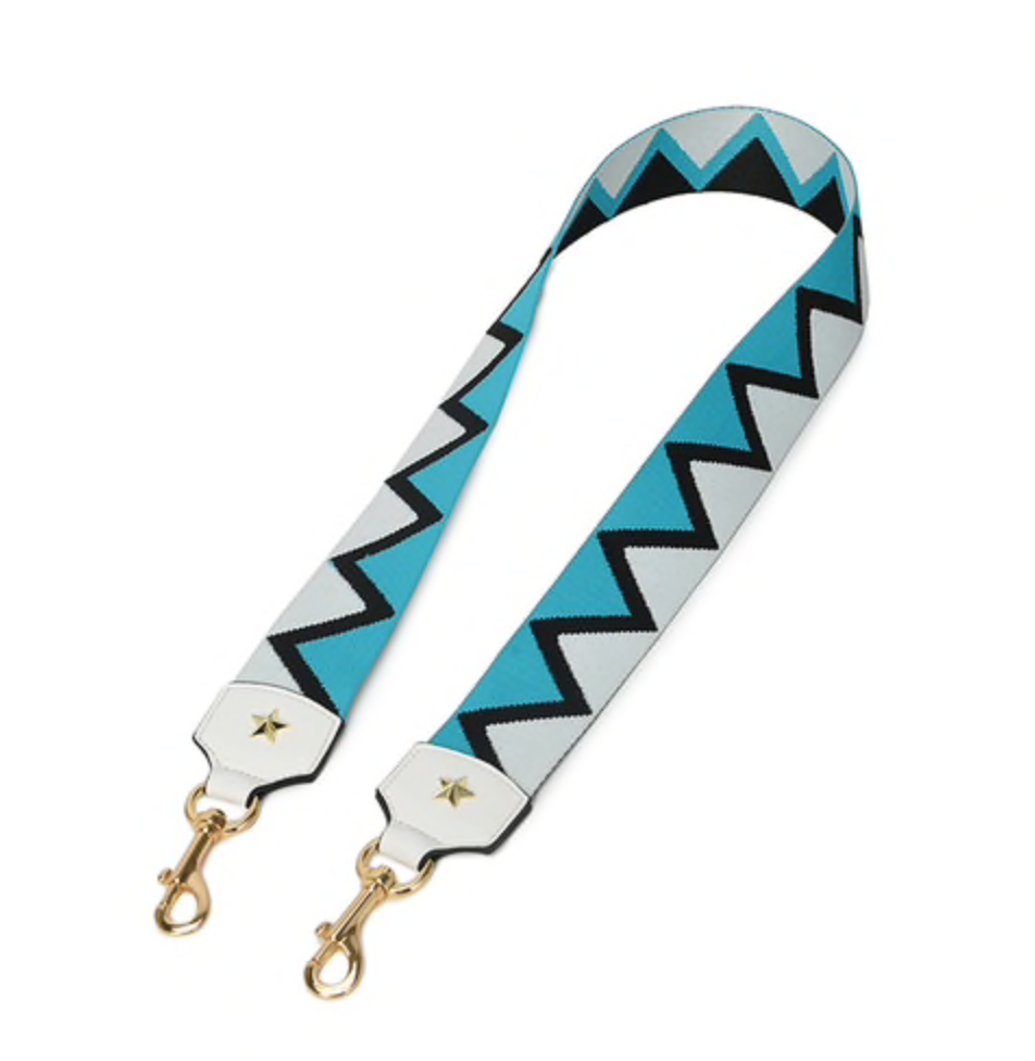 Bag strap - zig zag blue - TheShopster
