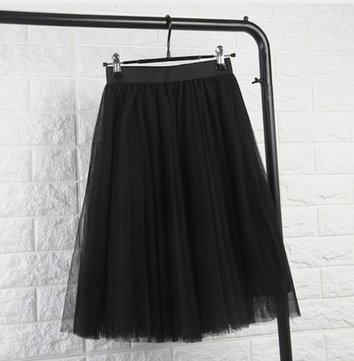 Black tule skirt - TheShopster