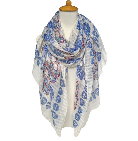 Blue skull scarf - TheShopster