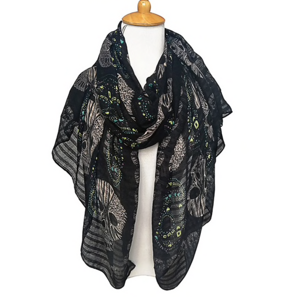 Black skull scarf - TheShopster