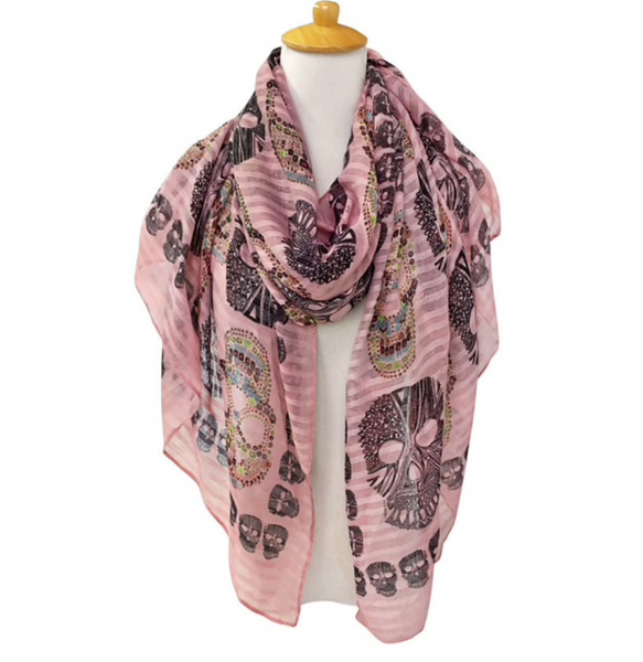 Pink skull scarf - TheShopster