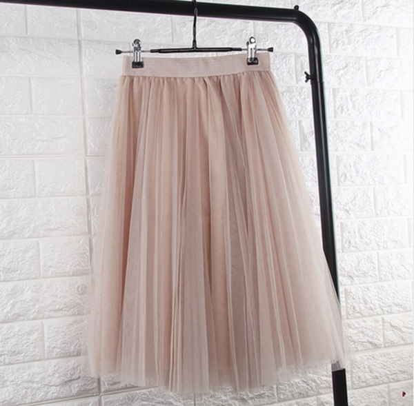 Beige tule skirt - TheShopster