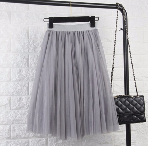 Grey tule skirt - TheShopster
