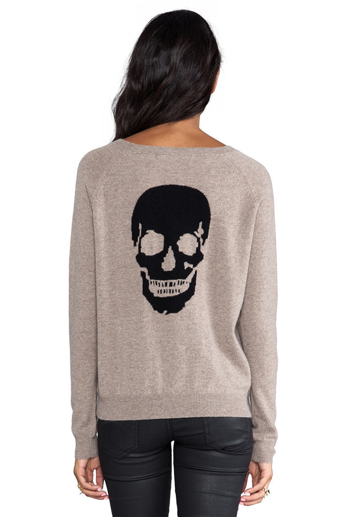 Beige skull sweater - TheShopster
