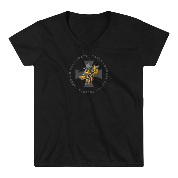 Iron Cross Badge - Ladies V-Neck