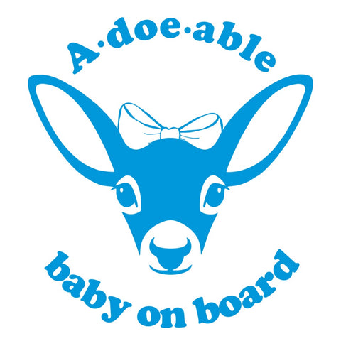 "A ""Doe"" Able Baby on Board Vinyl - Love Chirp Gifts"
