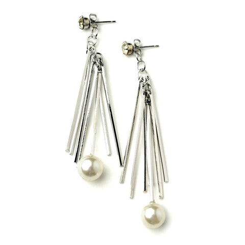 Bars and Pearl Earrings - Love Chirp Gifts