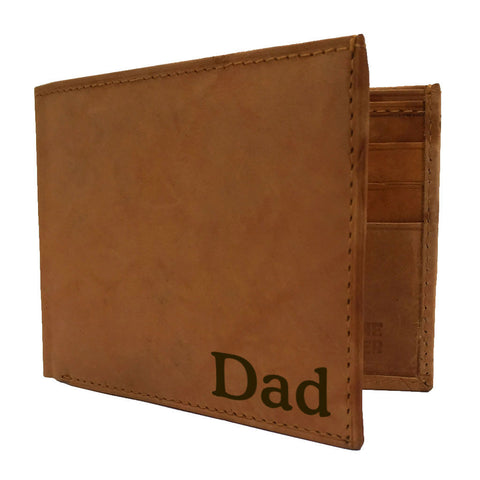 Bi-Fold Mens Leather Wallet - Love Chirp Gifts