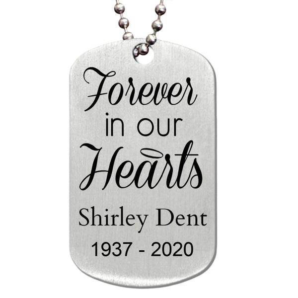Sterling Silver Custom Gift I carry your heart memorial Memorial Pet Necklace-Hand Stamped Forever in our hearts