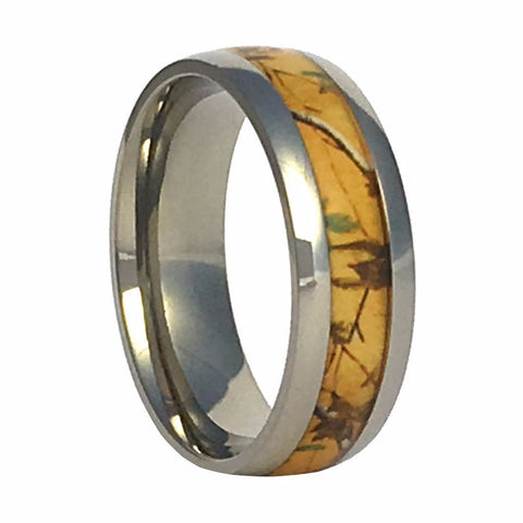 Gold Camo Titanium Ring - Love Chirp Gifts