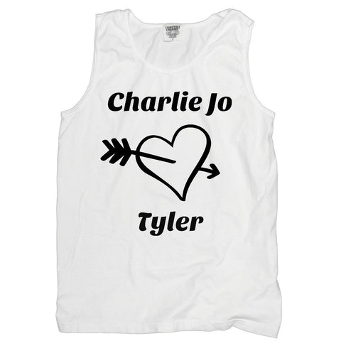 Heart Personalized with Your Names Tank - Love Chirp Gifts