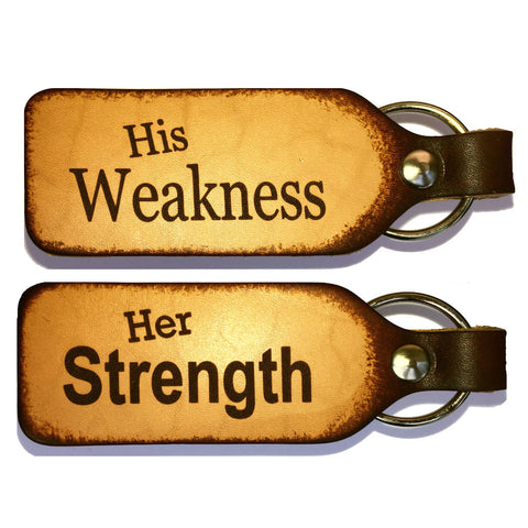 Strength and Weakness Couples Keychain Set