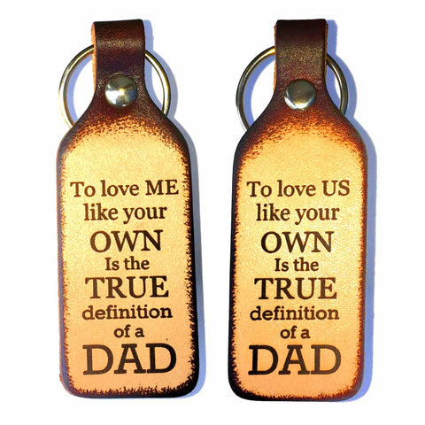 To Love Me/Us Like Your Own Leather Engraved Keychain