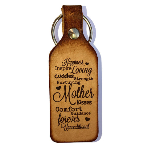 Mother Leather Keychain - Love Chirp Gifts