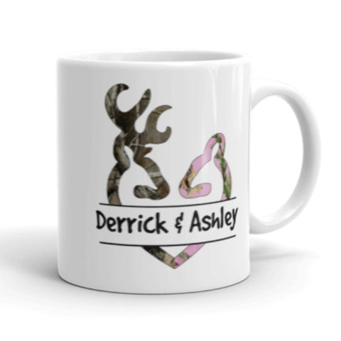 Personalized Buck and Doe Mug - Love Chirp Gifts