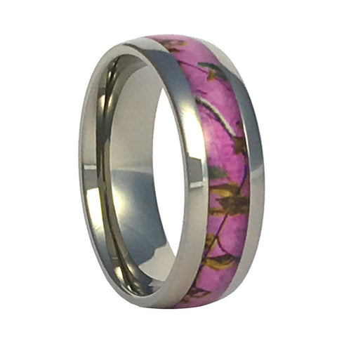 Purple Camo Titanium Ring