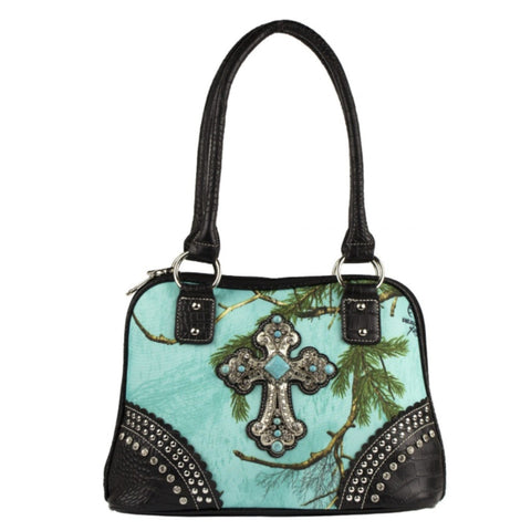Realtree Sea Glass Blinged out Cross Handbag - Love Chirp Gifts