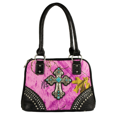 Realtree Wild Orchid Blinged Out Cross Handbag - Love Chirp Gifts