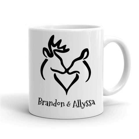 Personalized Classic Snuggling Buck and Doe Mug - Love Chirp Gifts
